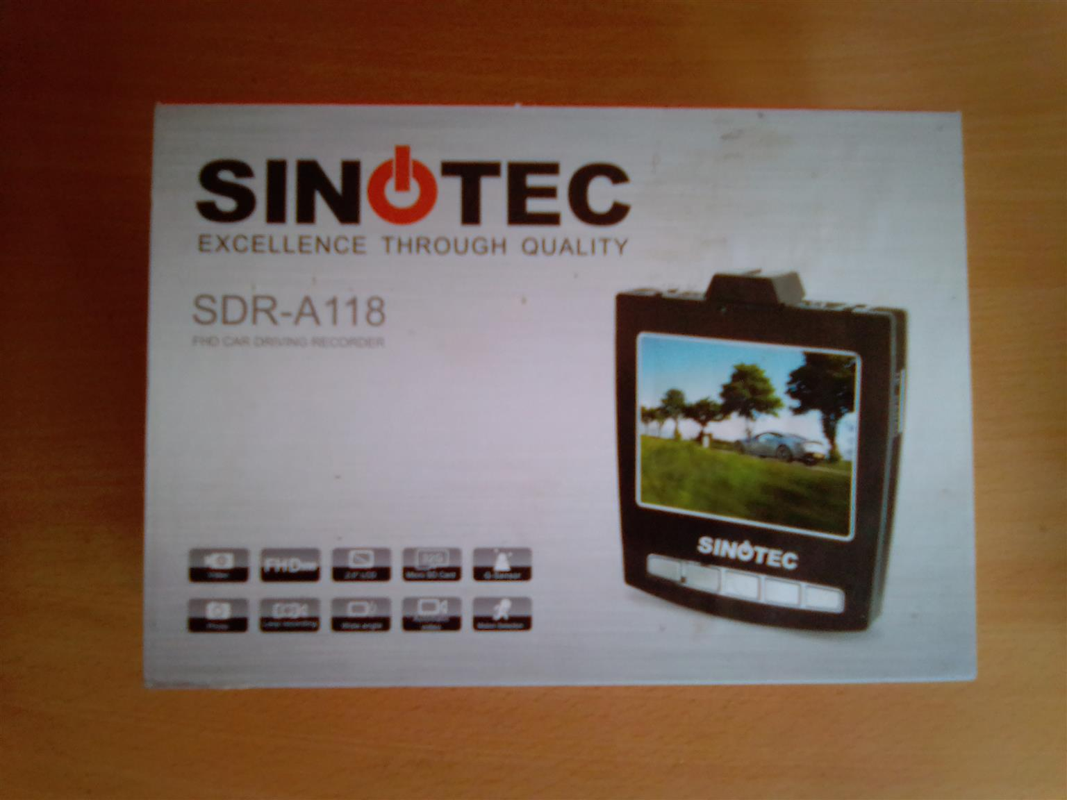 Sinotec Dashboard Digital Recorder SDR-A118. Brand new in a box. Balance of the guarantee.