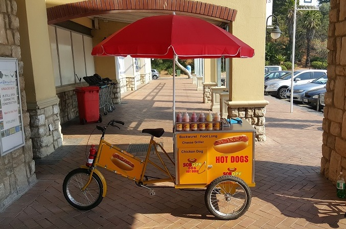 """HOT DOG VENDING BIKE FOR SALE """"GAS OPERATED"""""""