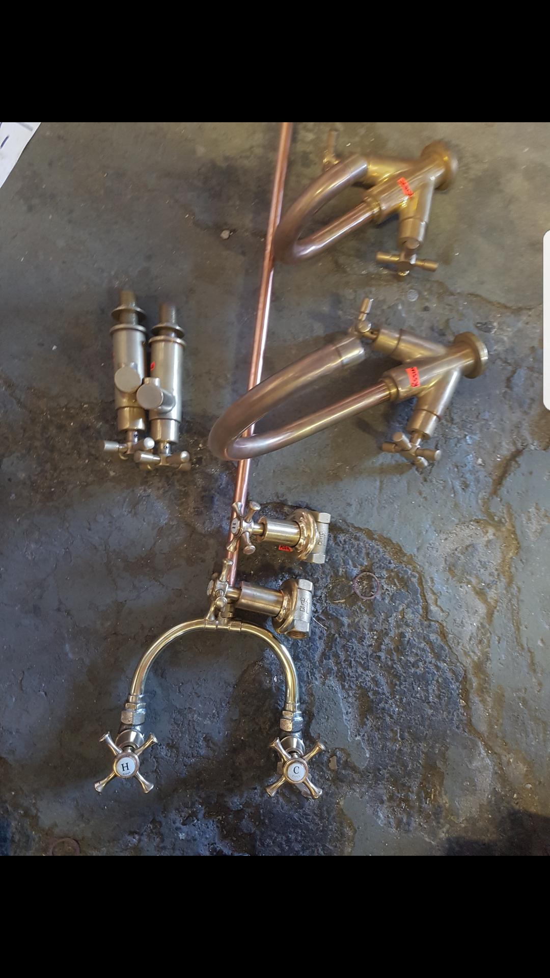 Solid brass shower taps
