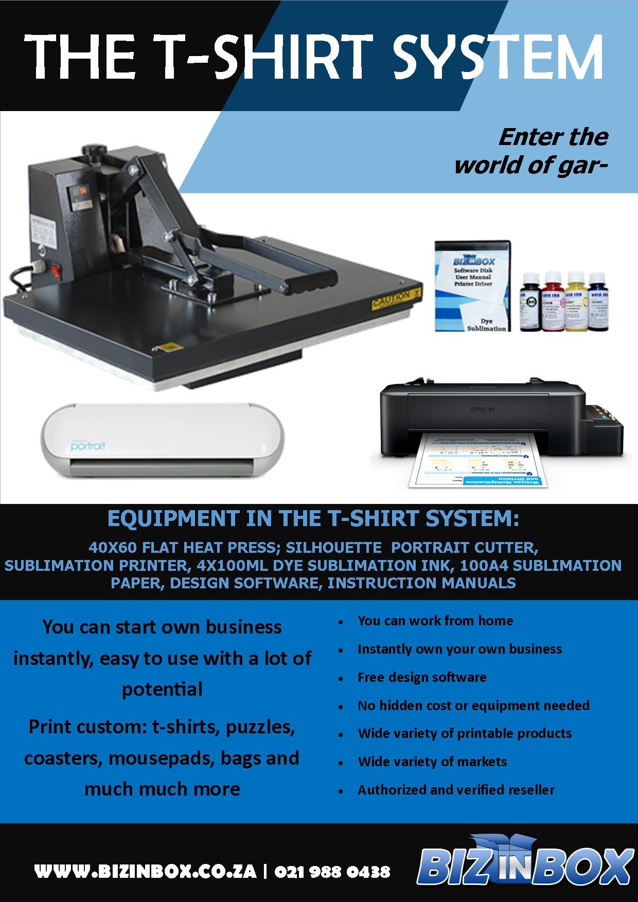 Tshirt printing equipment print print on all types of t-shirts