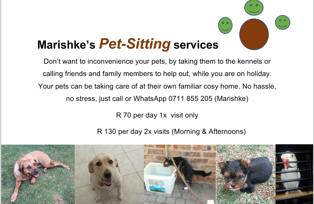 Pet-Sitting services