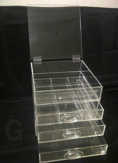 Acrylic cosmetic storage