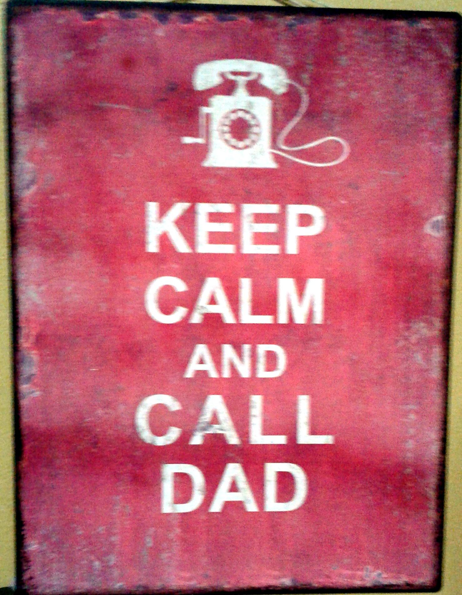 Wall Decor/ Metal Plaque: DAD...