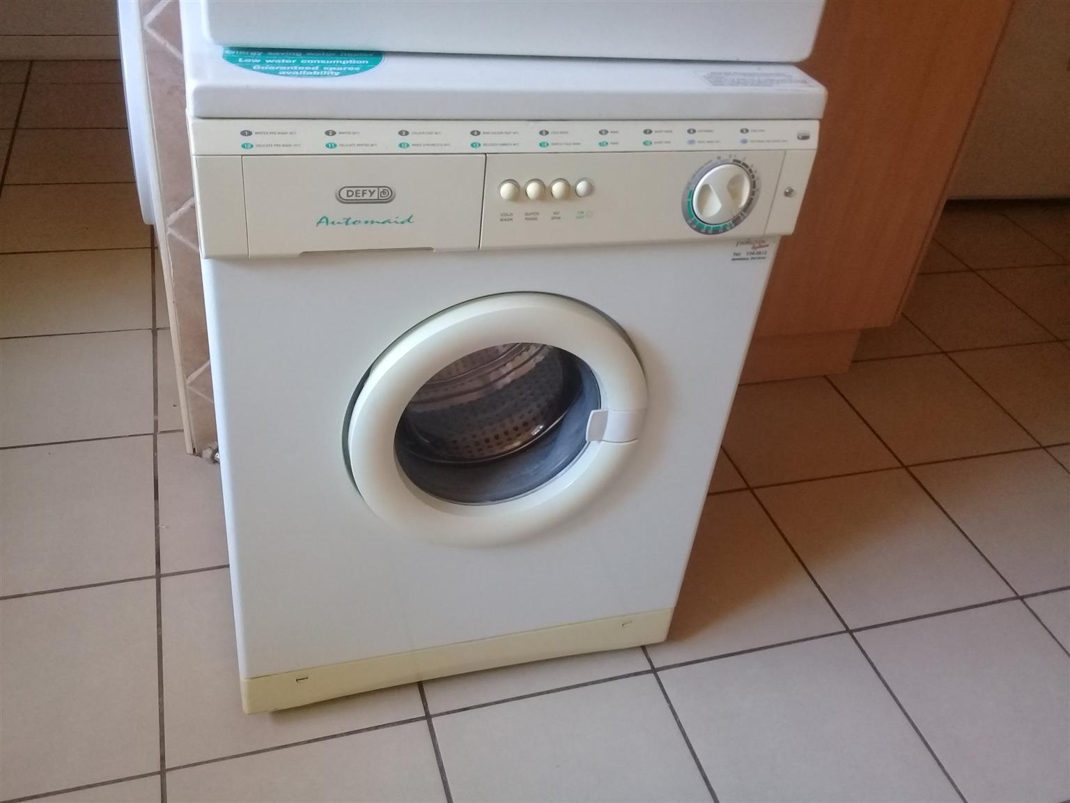 defy washing machine and tumble dryer.