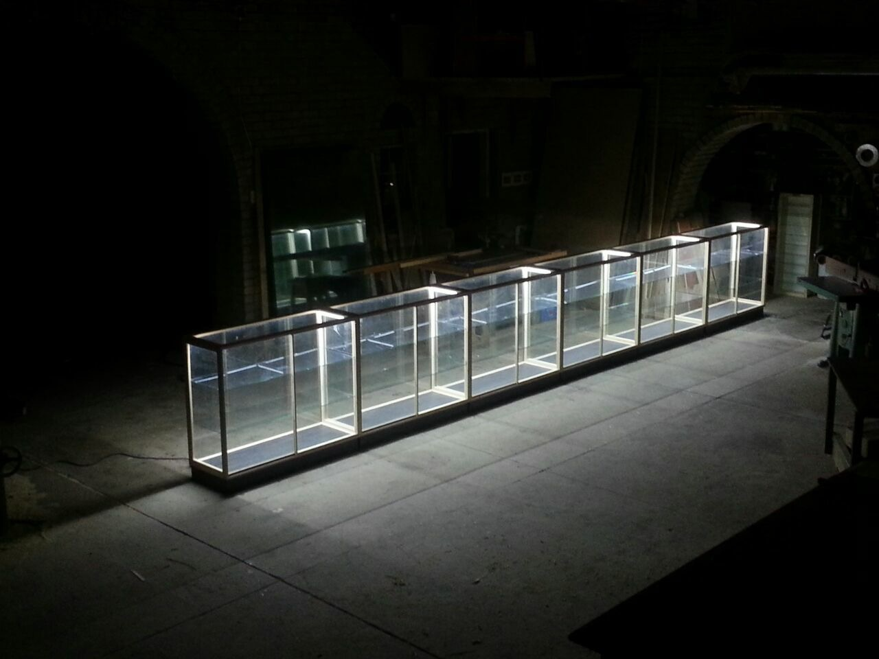 "COUNTERS, Glass ""Display Counters with LED/ Lights, Sliding doors etc. Dust Proof !"