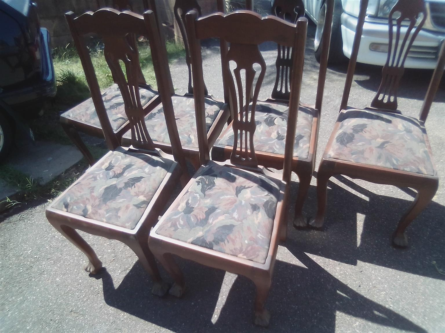 Antique Imbuia dining room set
