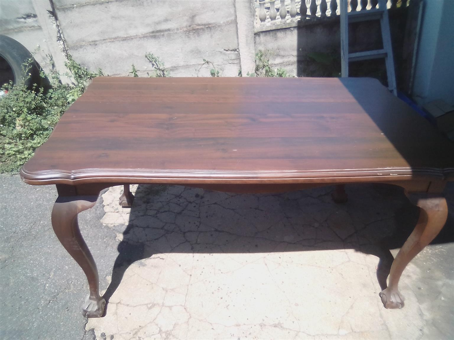 Antique Imbuia dining room set
