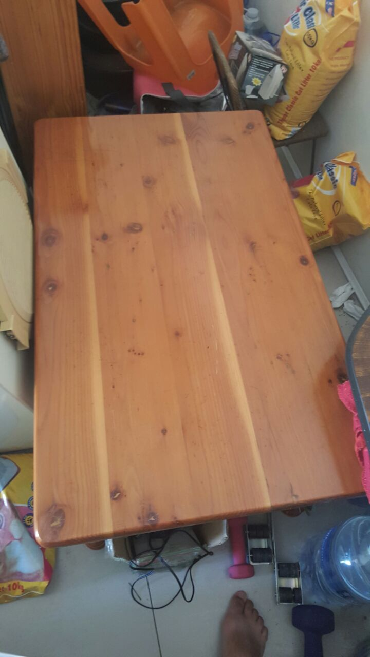 Yellow Wood Coffee Table For Sale