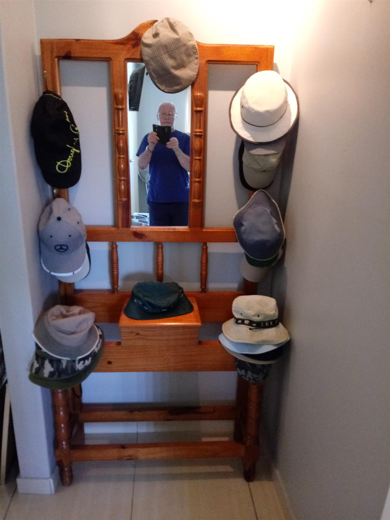 Hat Stand Mirror and Box
