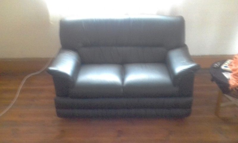 2 piece leather couches for give away price