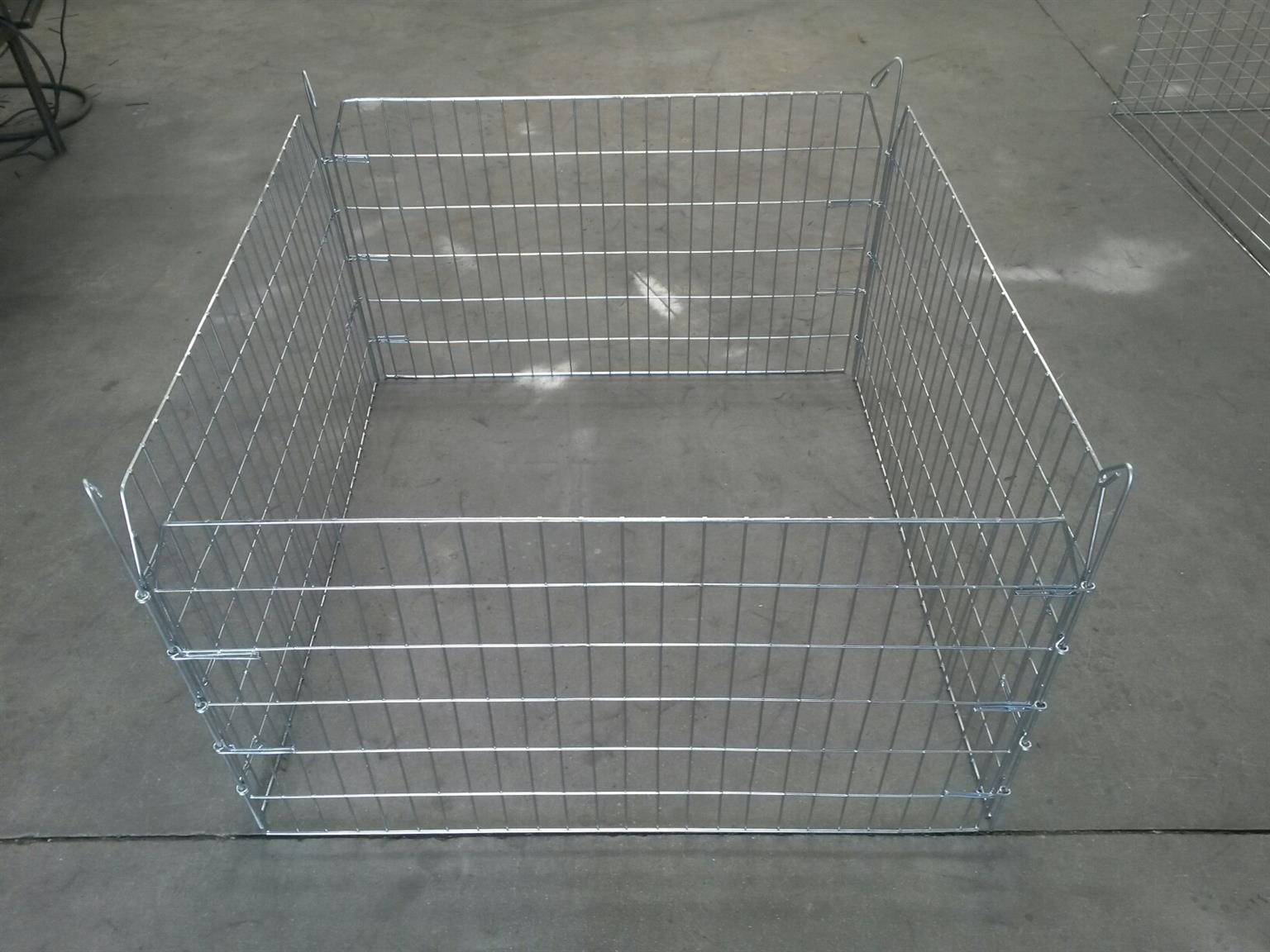 Flat folding Small Pet Playpen – 600mm high [Steel]