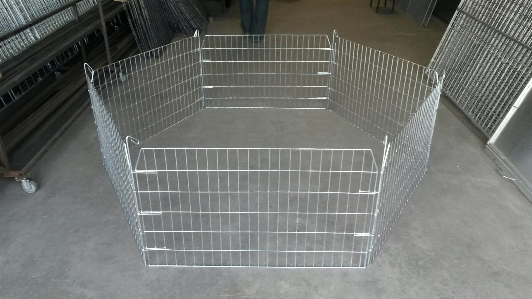 Flat folding Small Pet Playpen – 600mm high [Steel]