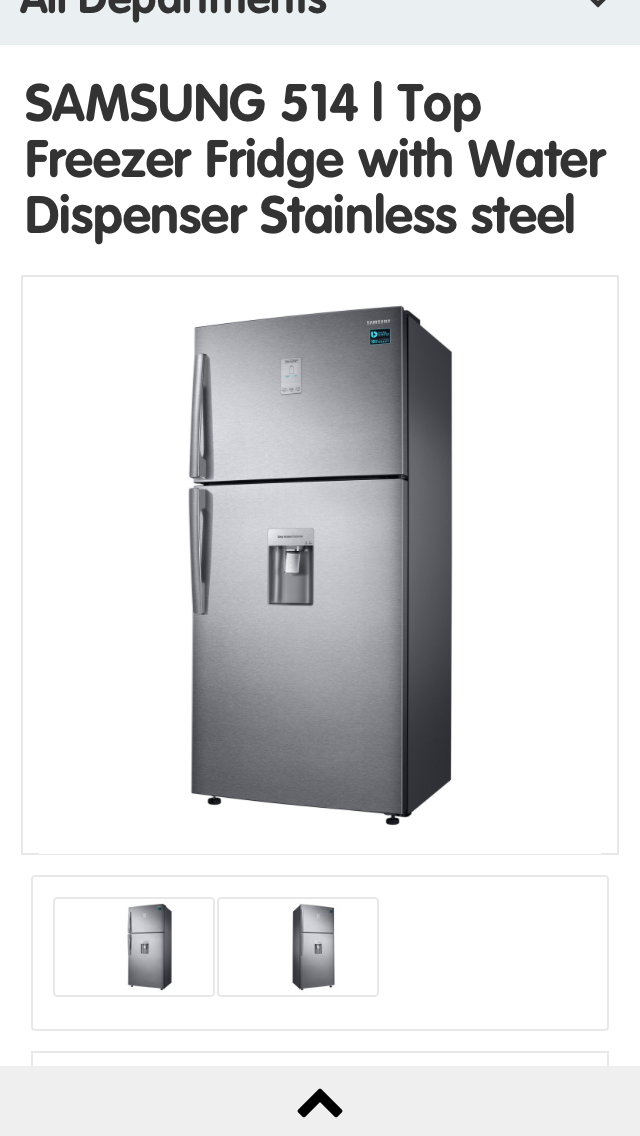 Samsung fridge with water dispenser for sale