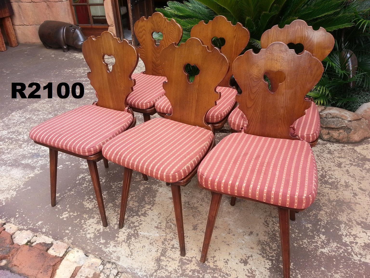 6 x Oak Kitchen Chairs