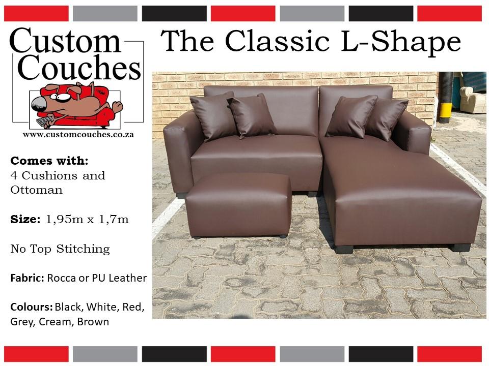 Custom Couches Classic L Shape R3400