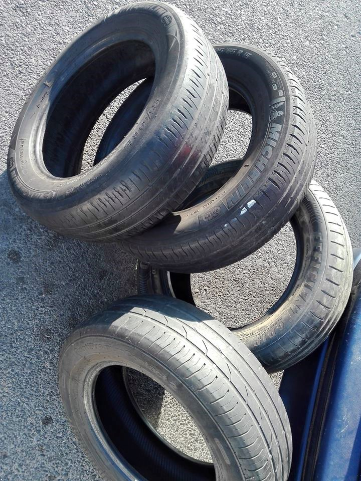 """Four decent second hand 15"""" tyres for sale."""