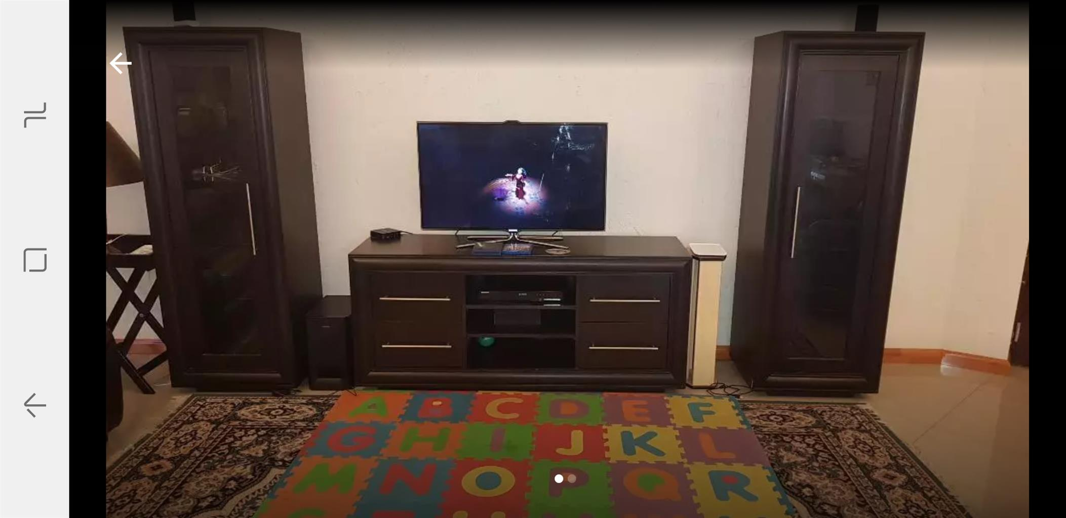 Waterfall plasma tv set