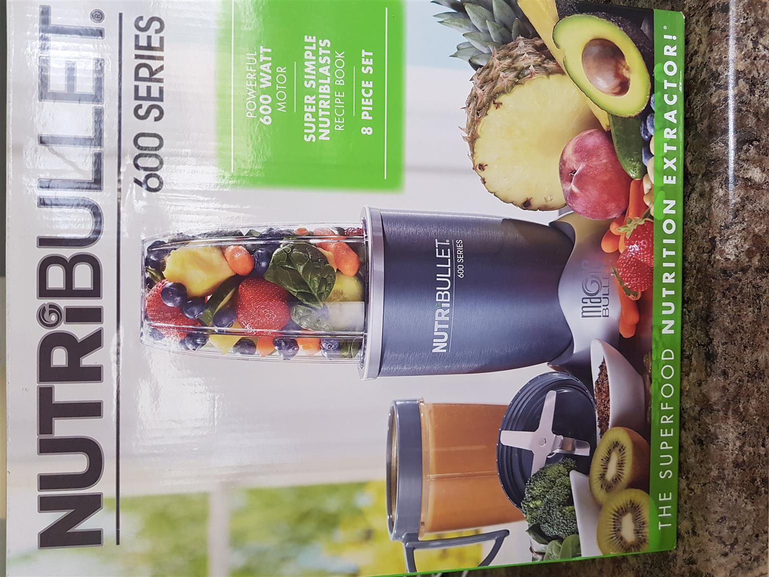 Brand new Nutribullet 8 piece
