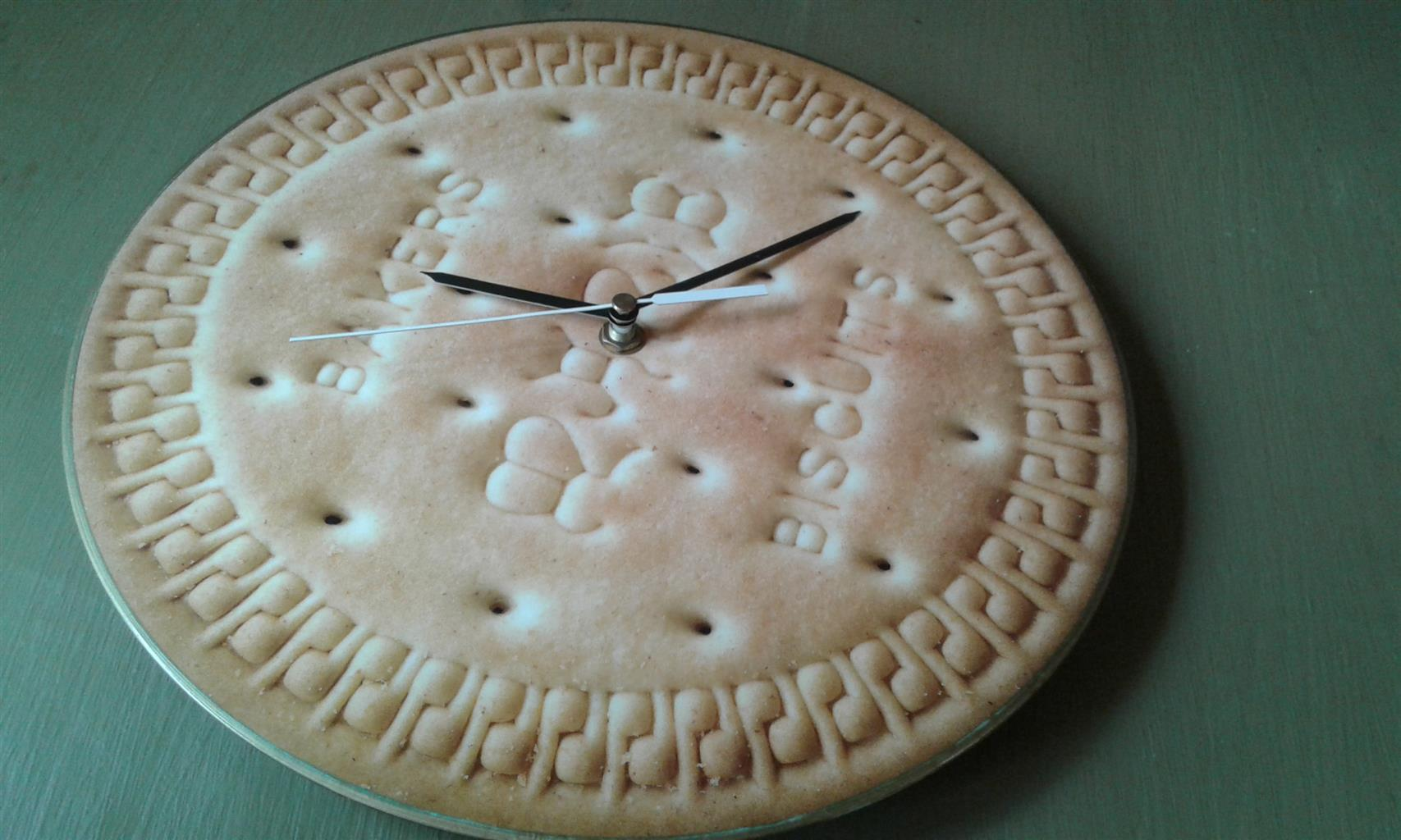 Bakers Biscuit Clock. Wall Art. Home Decor.