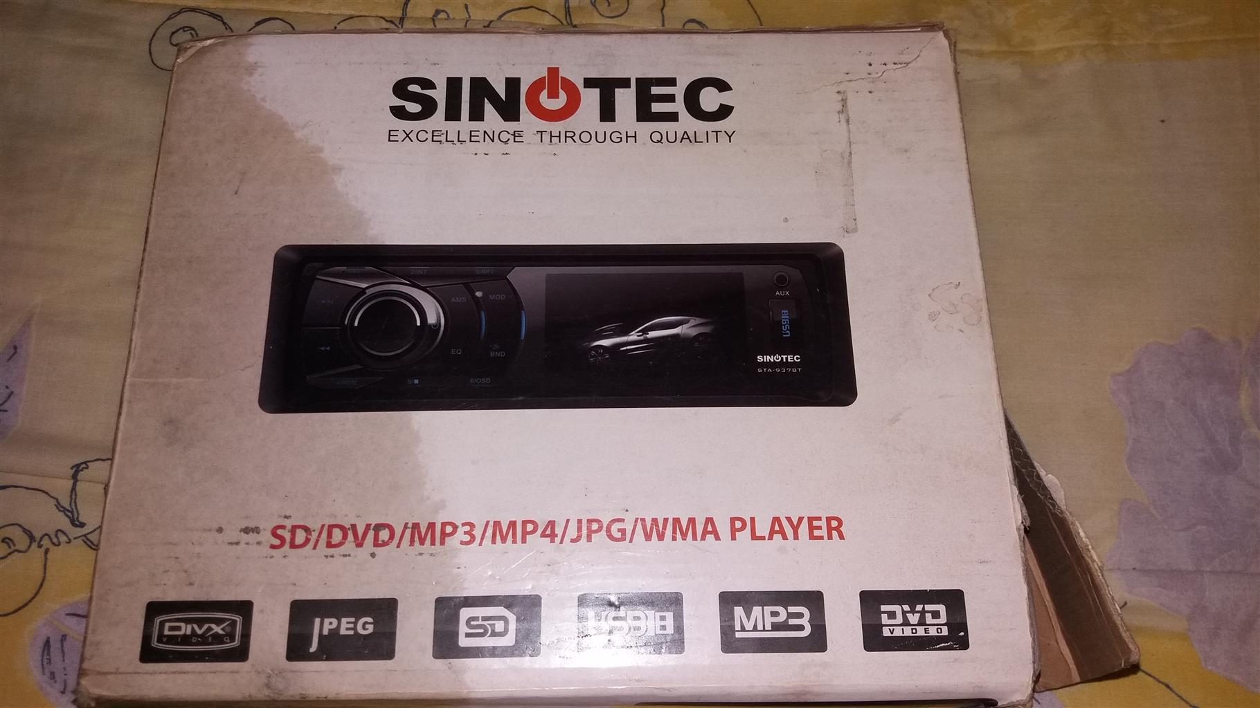 Sinotec excellence sd/dvd/mp3/jpg/wma radio tape( USB and AUX)