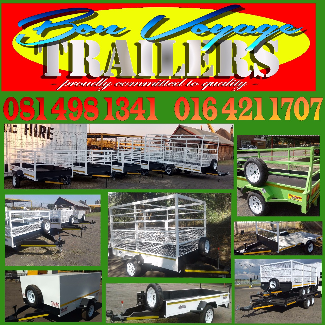 Bon Voyage Trailers - proudly committed to quality!