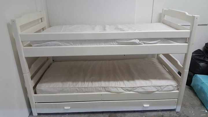 Triple Bunk Bed With Mattress