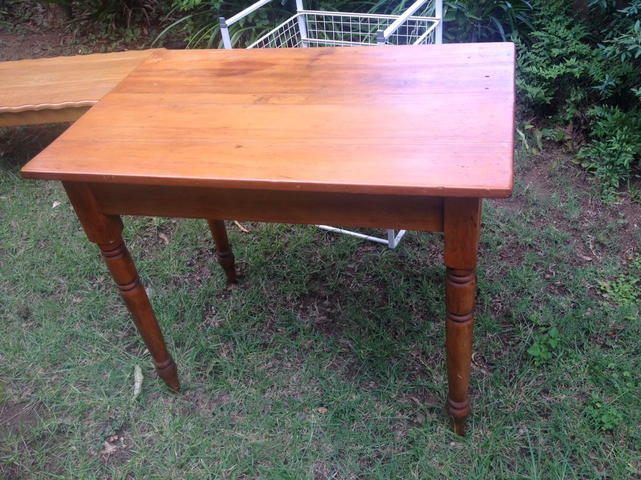 Two Seater Oregon Pine Table