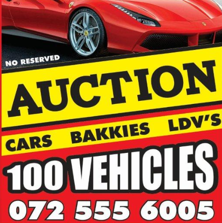 OVER 100 VEHICLES on auction