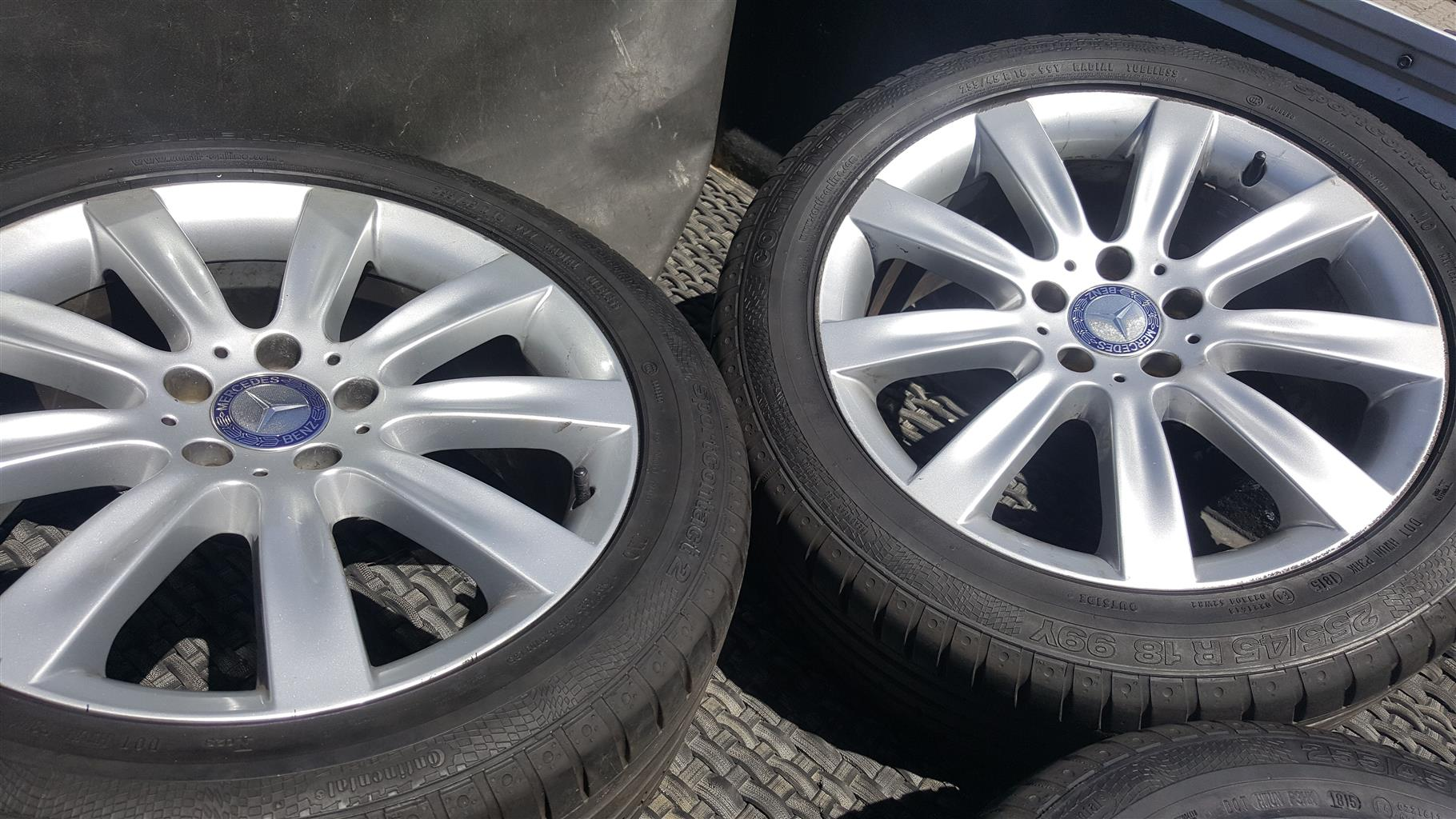 Mercedes mags & tyres