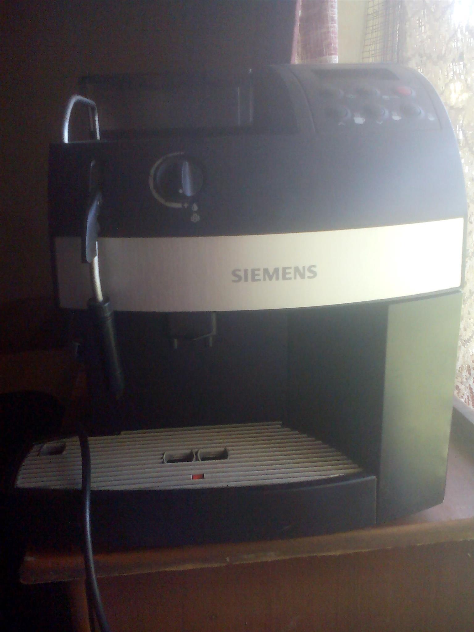 siemans cappuccino expresso coffee machine