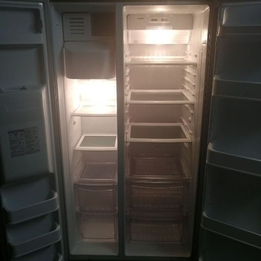 LG side by side water and ice fridge