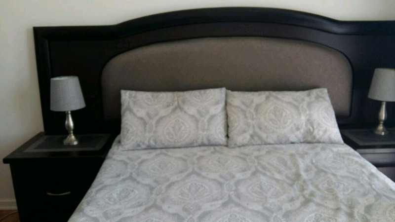 Dark wood Bedroom set for sale