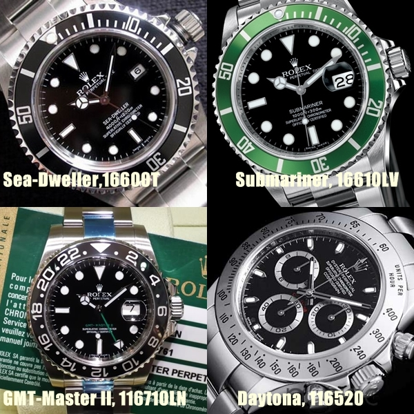 Rolex Submariner Daytona Datejust Oyster Perpetual - Range of Swiss Clones 1:1