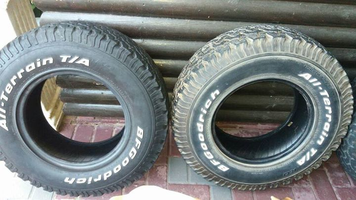 "5 x 5 """" Goodridge all terain tyre...30 x 9.50"