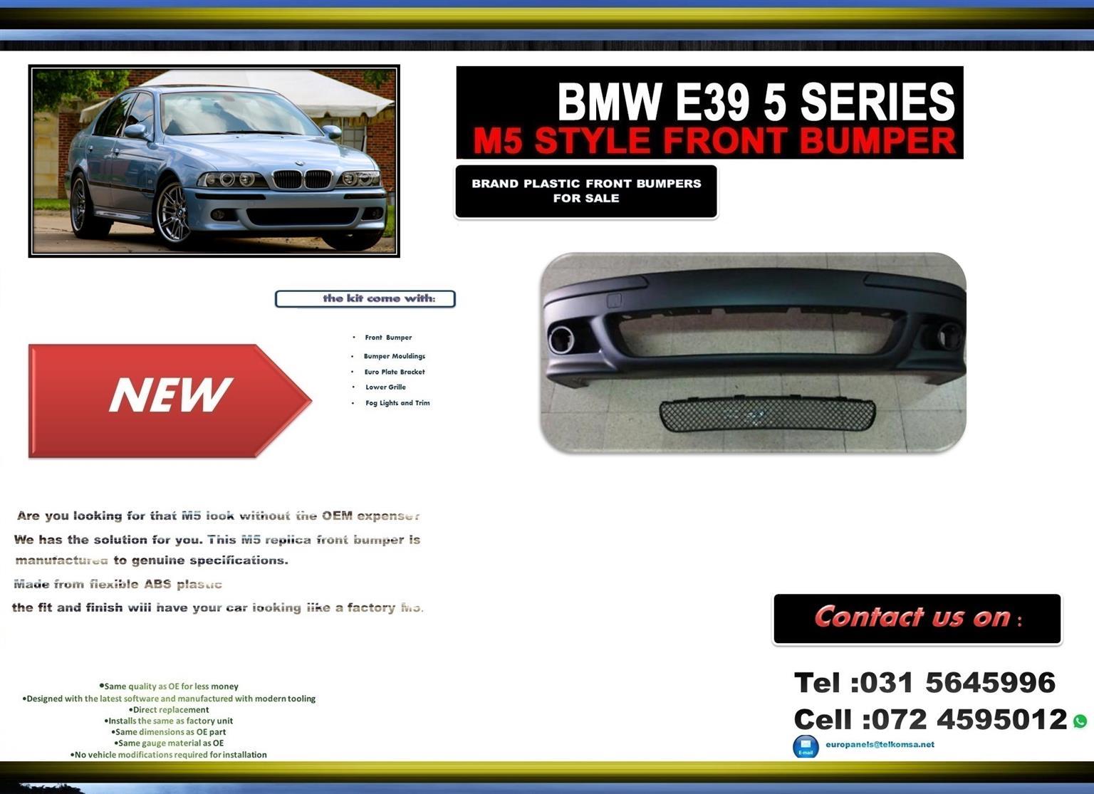 BMW E39 5 SERIES M5 BRAND NEW PLASTIC FRONT BUMPER PRICE-R2300