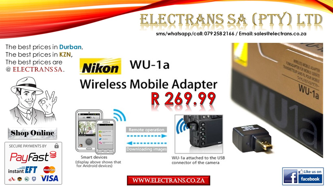 Nikon Wu-1a Wireless Adapter~ Electrans SA