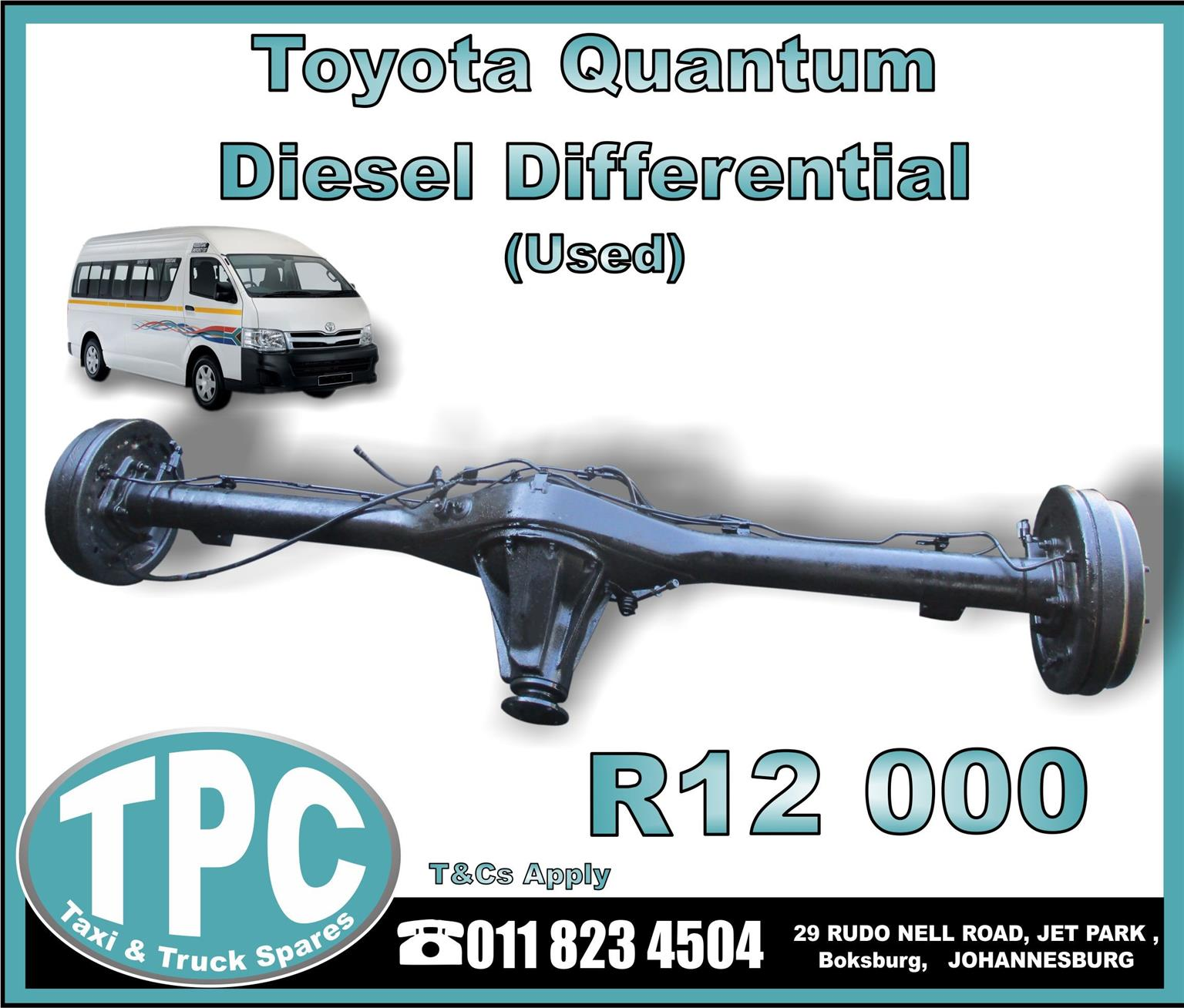Toyota Quantum Diesel Differential - Used - New And Used Quality Replacement Taxi Spare Parts - TPC
