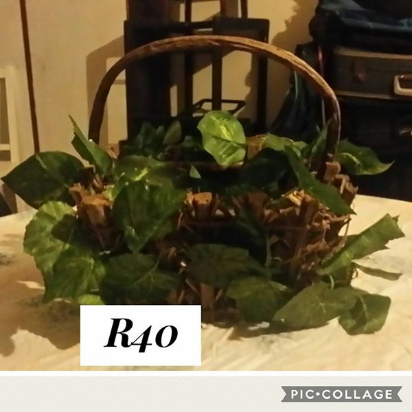 Fake plant in basket