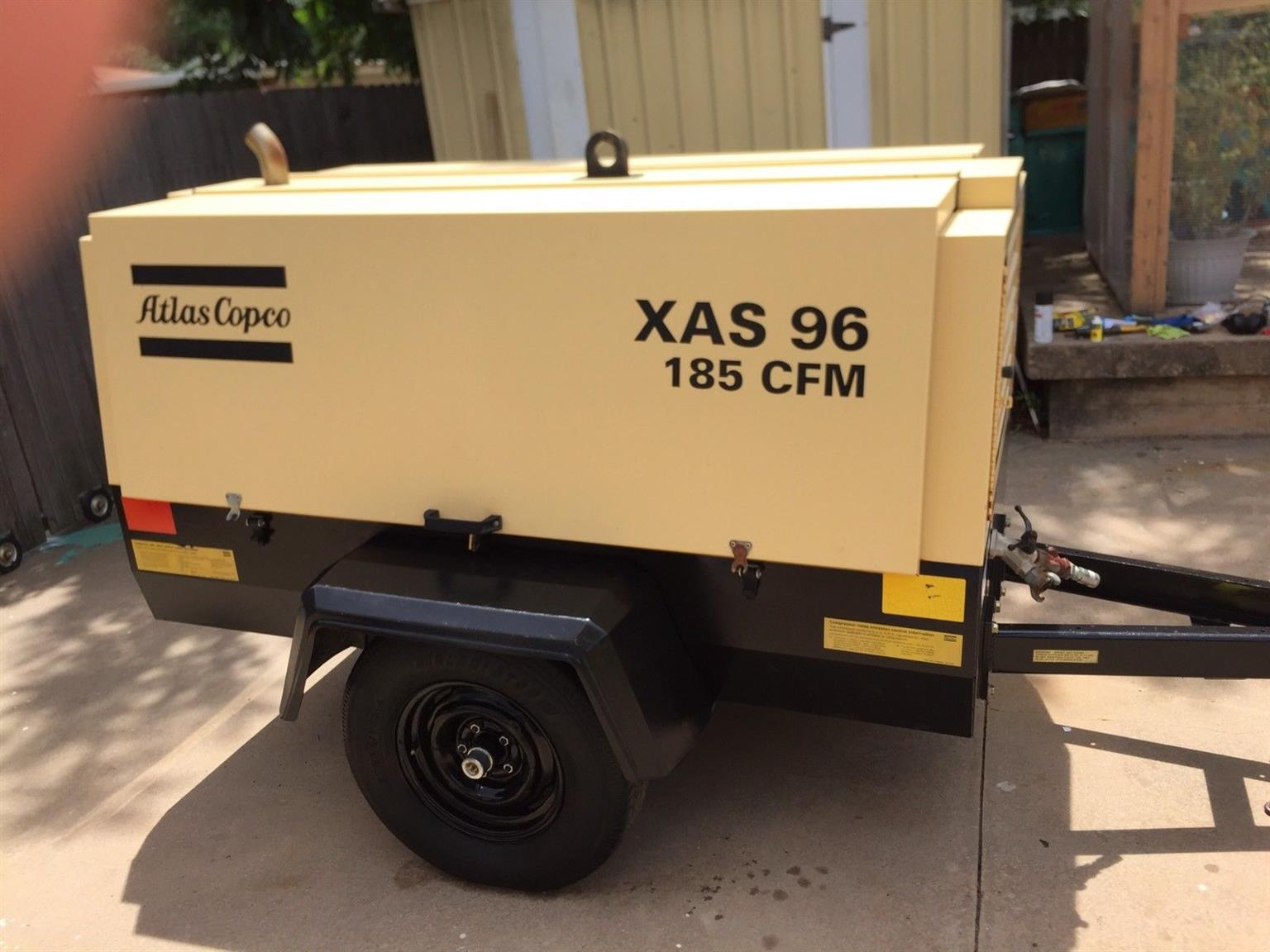 185 CFM Atlas Copco XAS 96 Air Compressor fully serviced and Works great