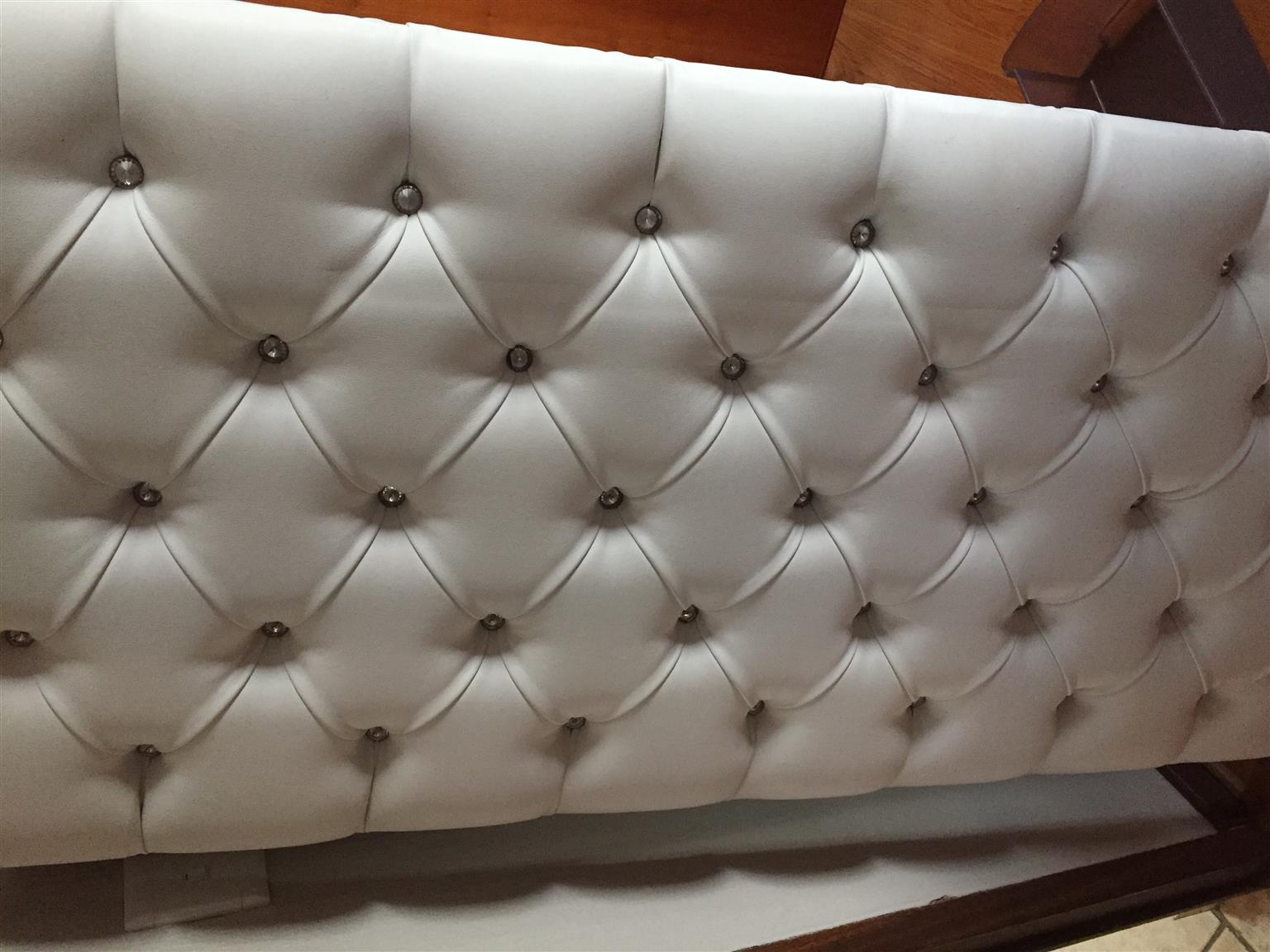White Double Headboard - padded