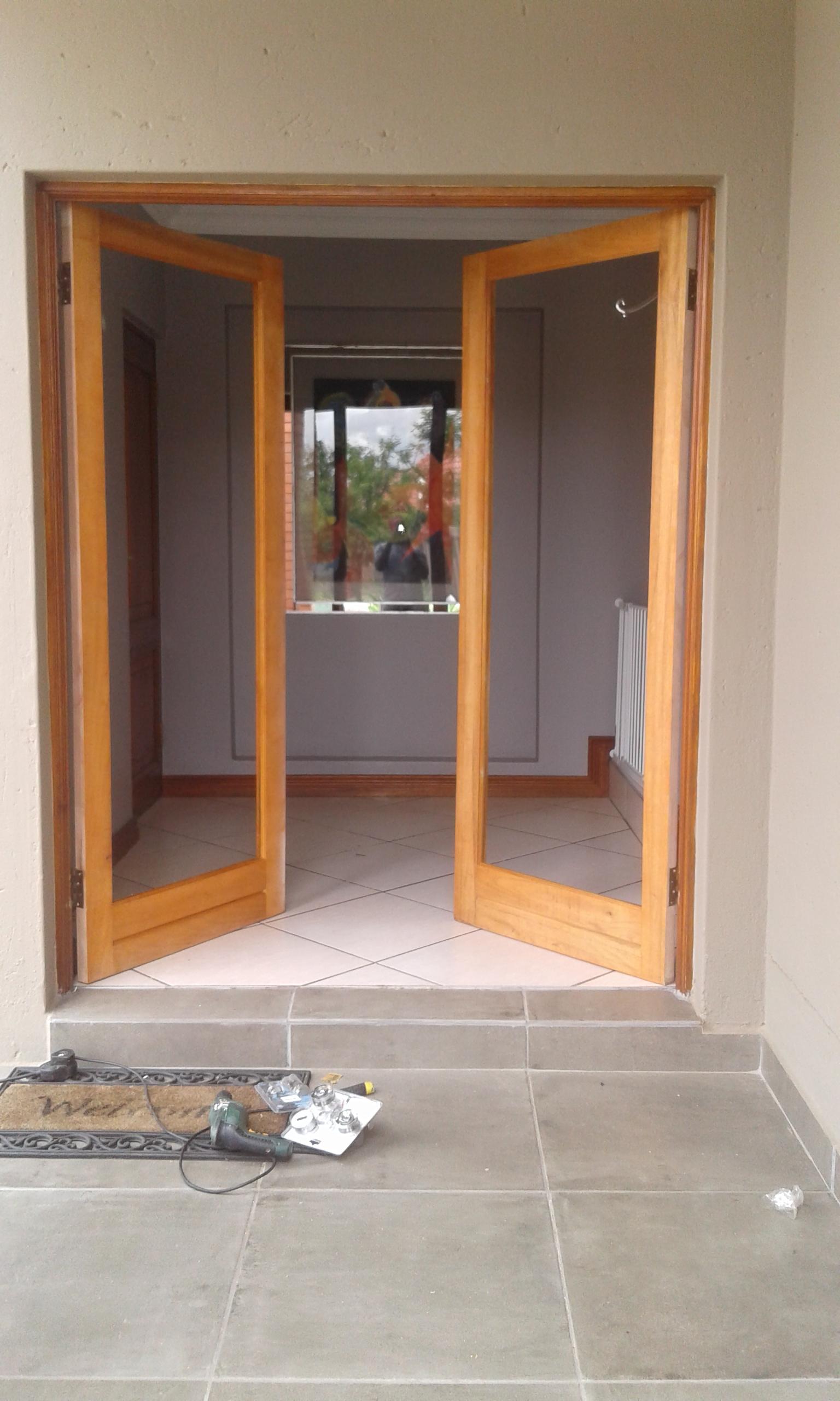Wooden door fitting Sandton 0760681130