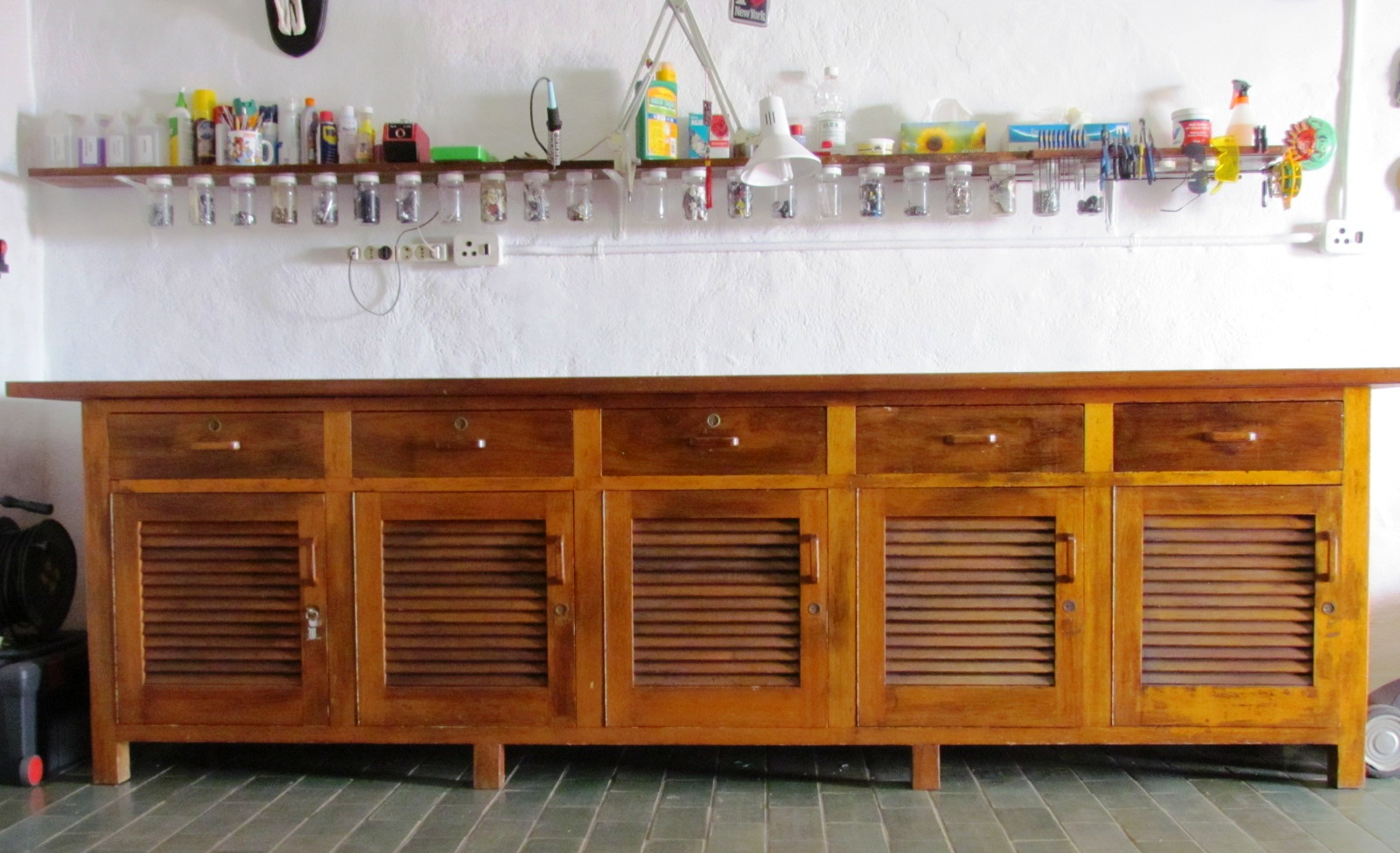 Workshop Table and Cupboard