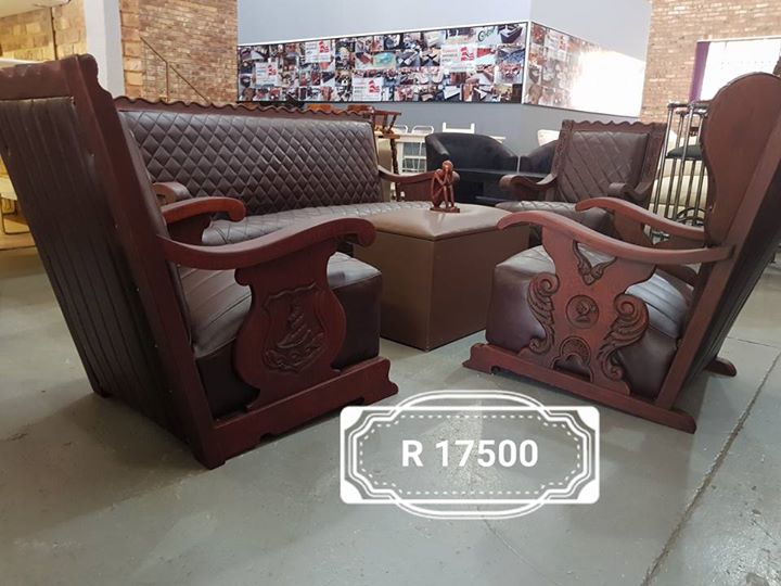 Royal genuine leather lounge suite
