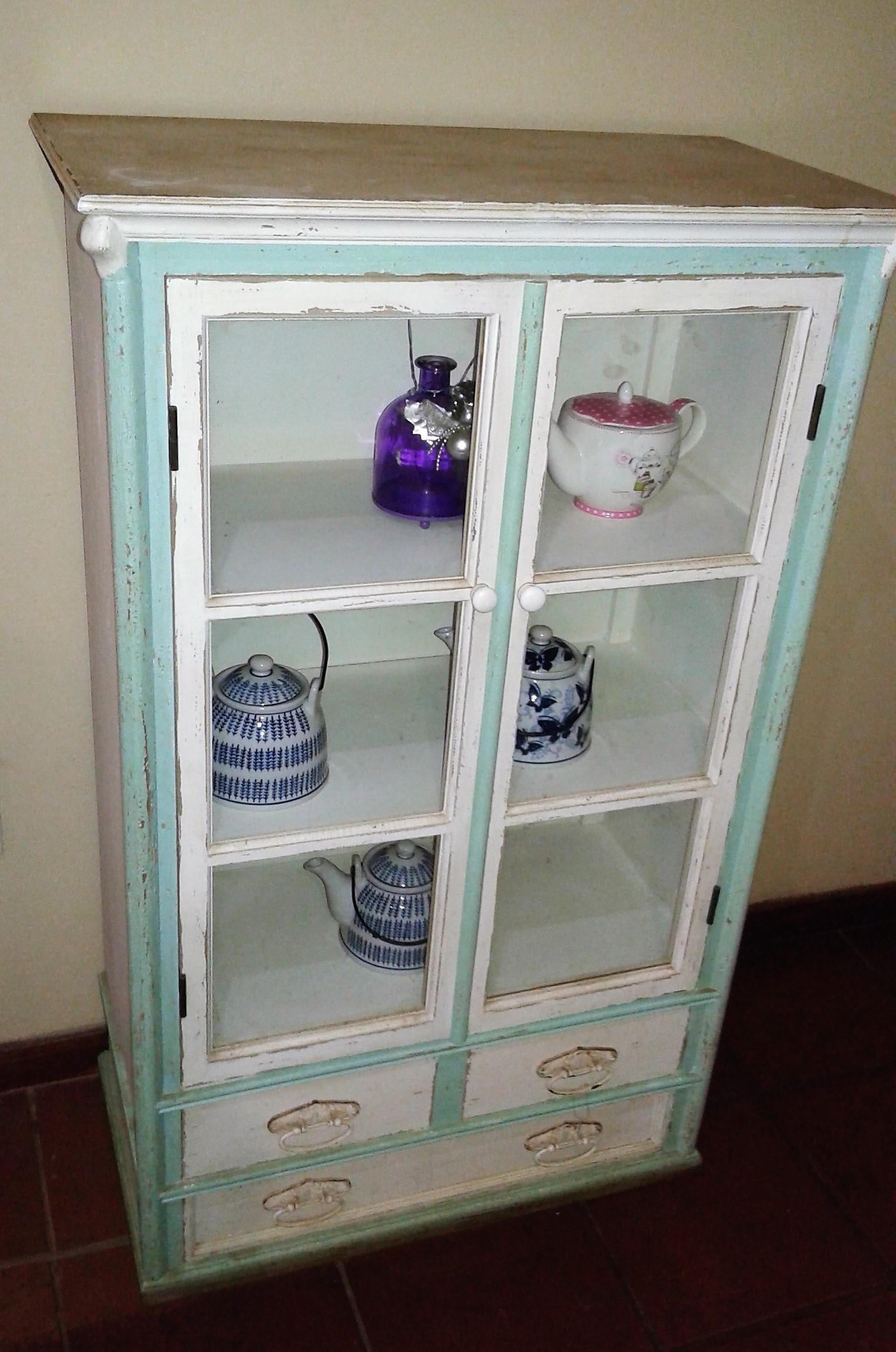 Home Decor/ Mint Green Cupboard