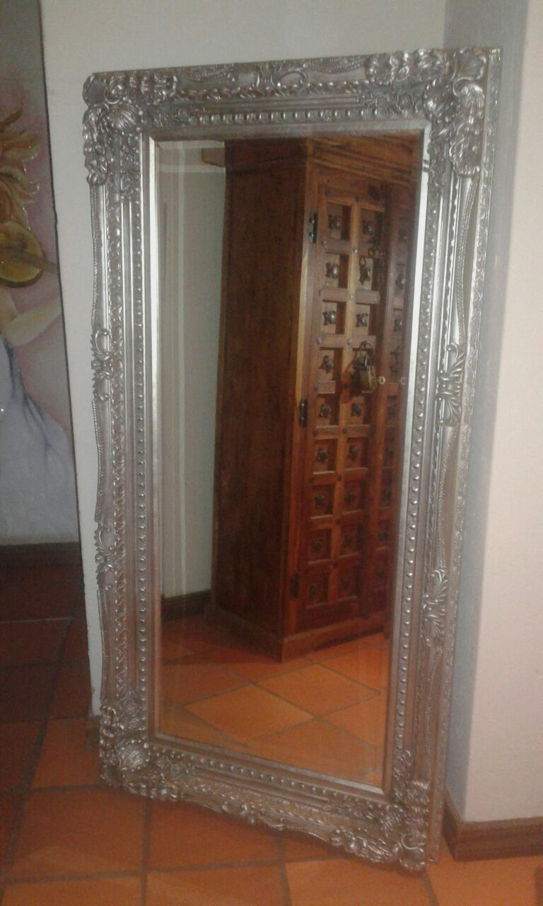 large Mirrors and antic cupboard