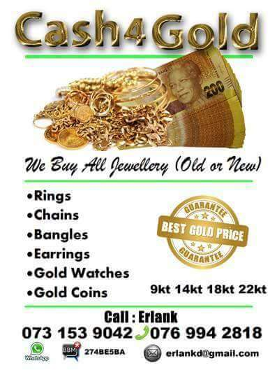 Cash paid for Gold Jewellery