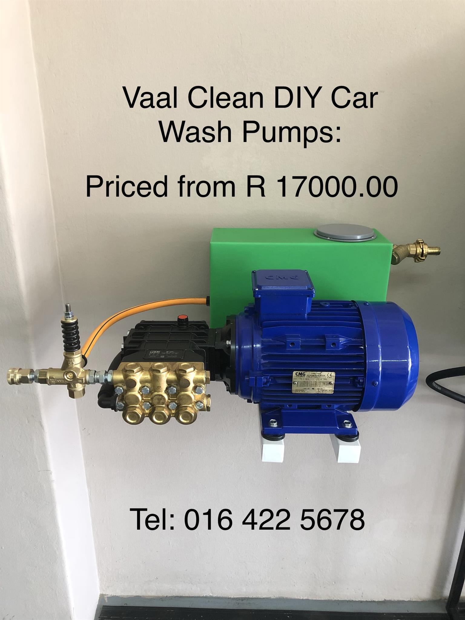 New Wall Mounted Car and Truck Wash Pumps