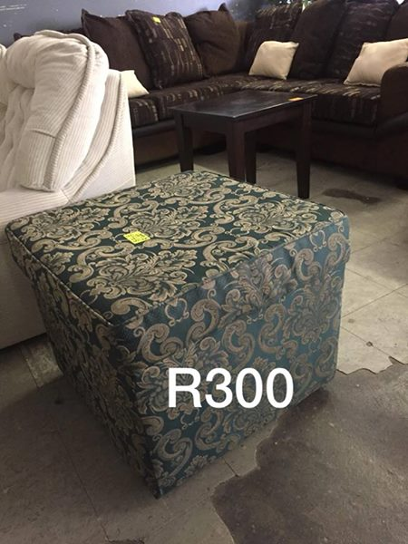 Green ottoman for sale