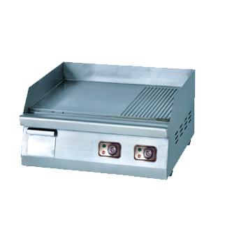 Griller-half Ribbed-half flat-Table top griller 600mm-OT-600F