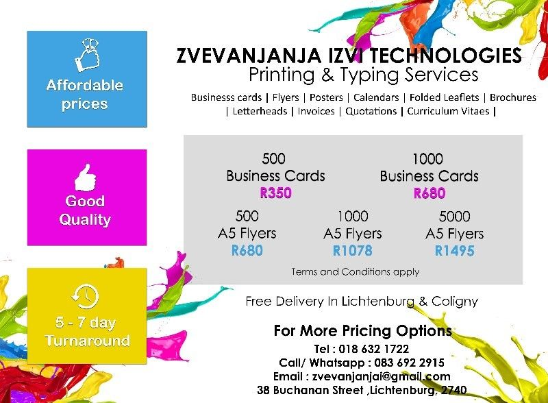 Printing typing services business cards flyers posters printing typing services business cards flyers posters reheart Choice Image